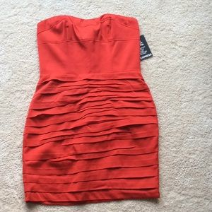 Red Strapless Dress from Express.